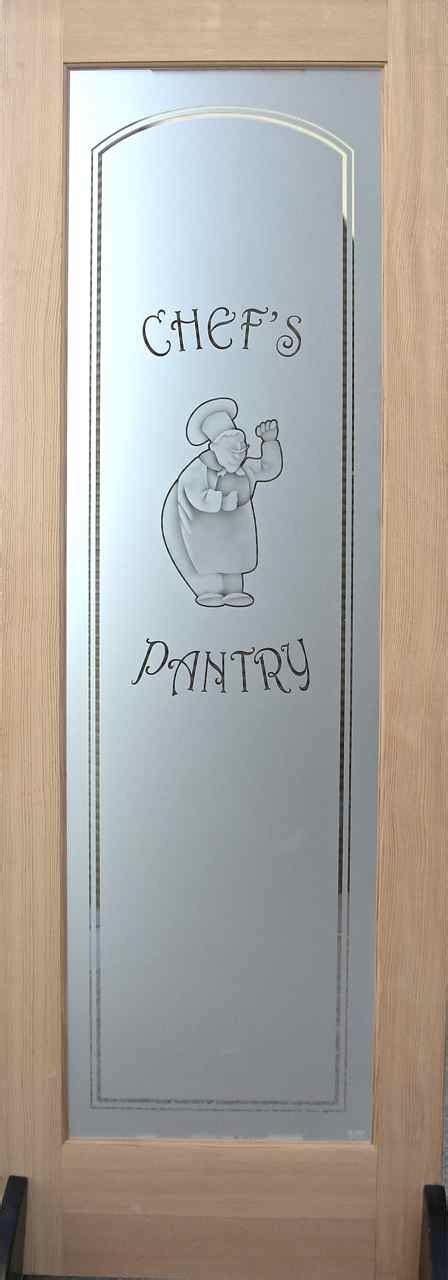 Etched Glass Pantry Doors: Multi stage Sandblasting   Sans
