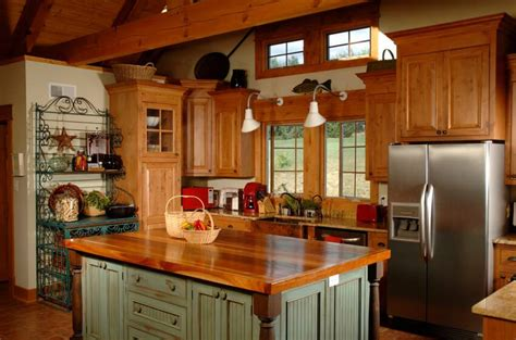country kitchen islands 5 ideal surfaces for country style kitchen homedizz