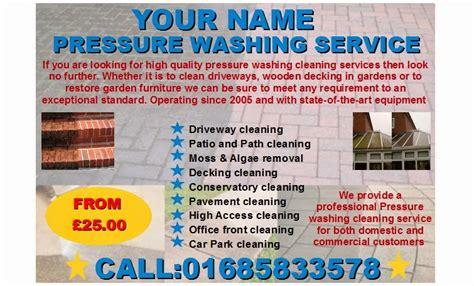 business templates forms jetpressure washing leaflets