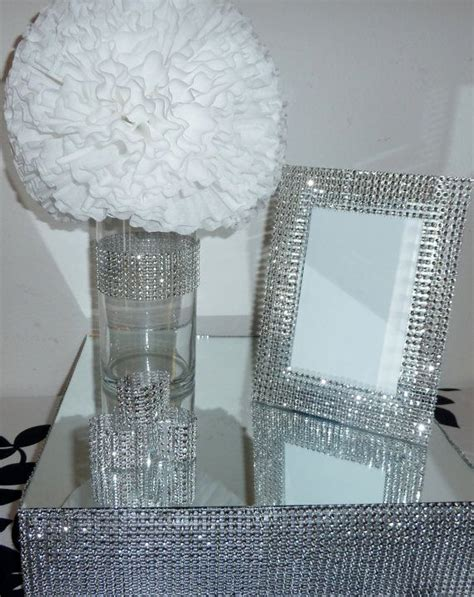 wedding place card holder table number holder silver mini table card stand table decoration metal 48cm high business card standing holders 5x7 silver bling faux rhinestone wedding frame