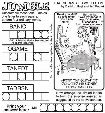 Jumble Word Puzzle Printable Daily Puzzles Today