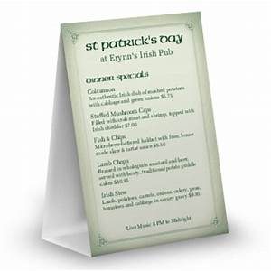 st patricks day menu templates and designs musthavemenus With irish menu templates