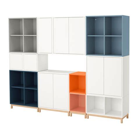 eket storage combination with legs multicolor ikea