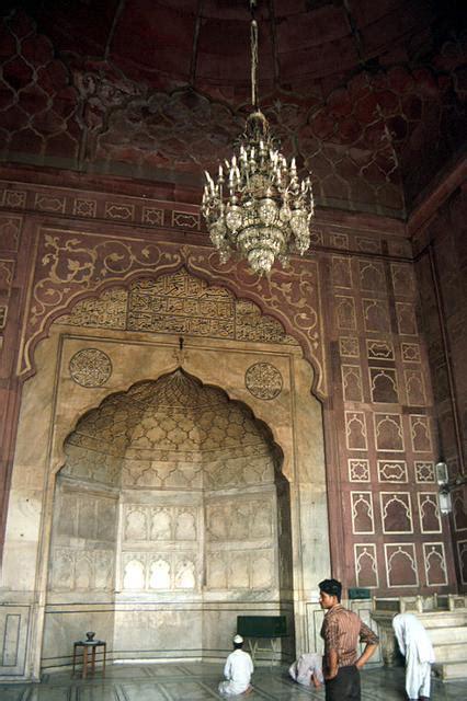 jama masjid delhi interior view  prayer hall showing