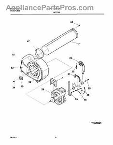 Parts For Frigidaire Gler341as1  Motor Blower Parts