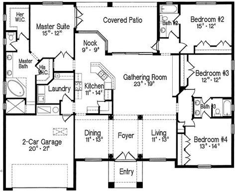 split level bedroom plan 4293mj split bedroom one living master suite