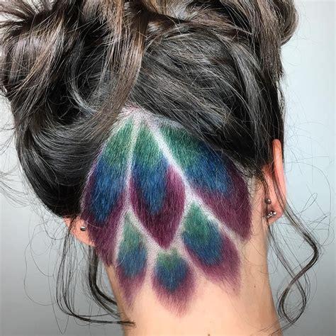 Peacock Undercut Hair Color By Tangerine Salon Aveda