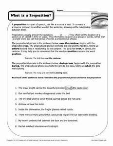 8th Grade Prepositional Phrase Worksheet