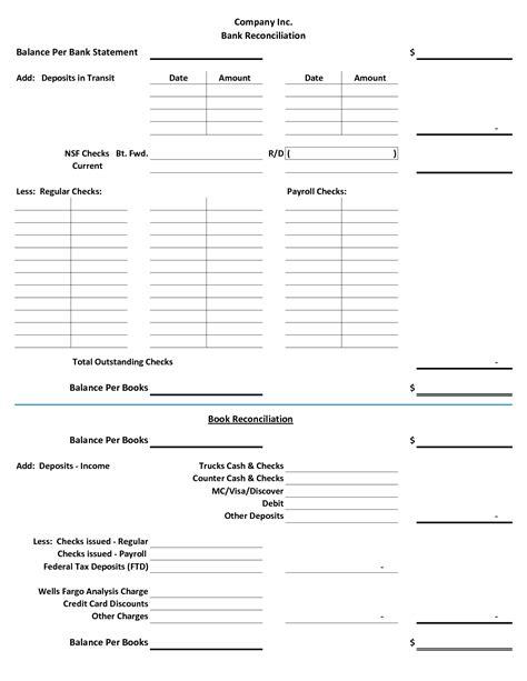 account reconciliation template blank bank reconciliation form portablegasgrillweber