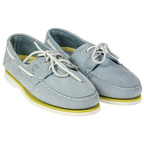 light blue timberlands mens timberland 70558 leather 2 eye boat casual light blue