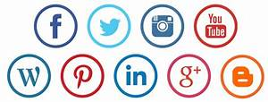 White On Social Media Icons Circle Transparent Background ...