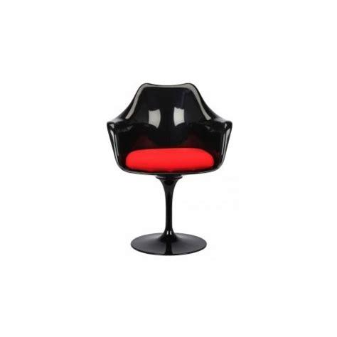 chaise en fibre de verre chaise design tulip avec accoudoirs en fibre de verre par