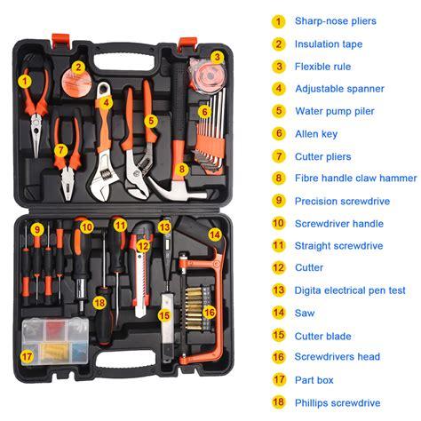 kenmaster 100 pcs tool set kit 100pcs portable diy home household car garage garden