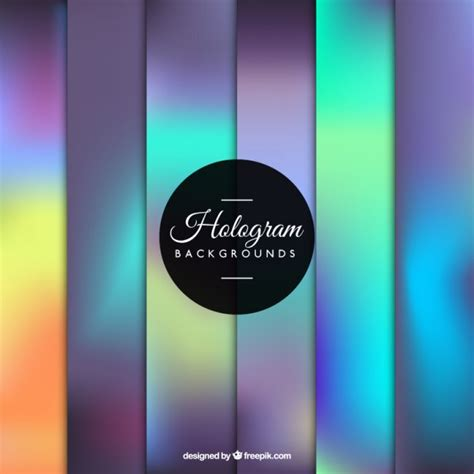 Gorgeous Backgrounds Gorgeous Hologram Background Vector Free