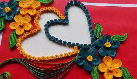 paper art    beautiful flower  heart design