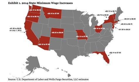 MAP: Workers In These States Will Get A Higher Minimum