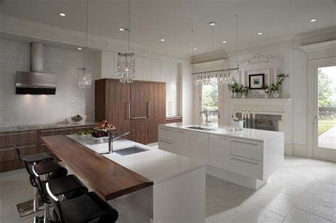 Modern Kitchen Bathroom Designs by Create The Look Wood Mode White Kitchen Walnut Veneer