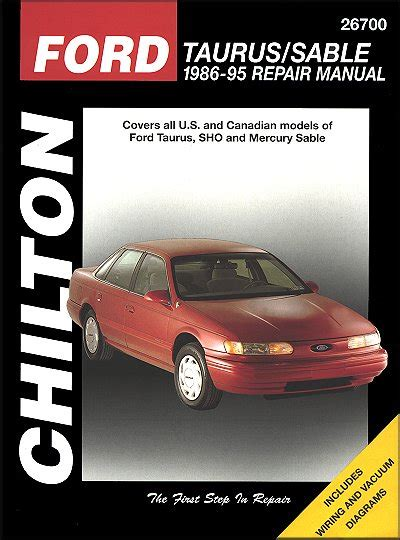 ford taurus mercury sable repair manual