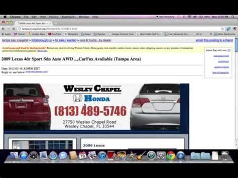 Craigslist Fl Cars by Craigslist Ta Fl Cars Used Trucks And Vans Available