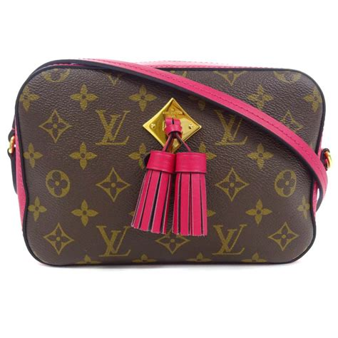 louis vuitton  saintonge freesia shoulder bag brown monogram canvasle ebay