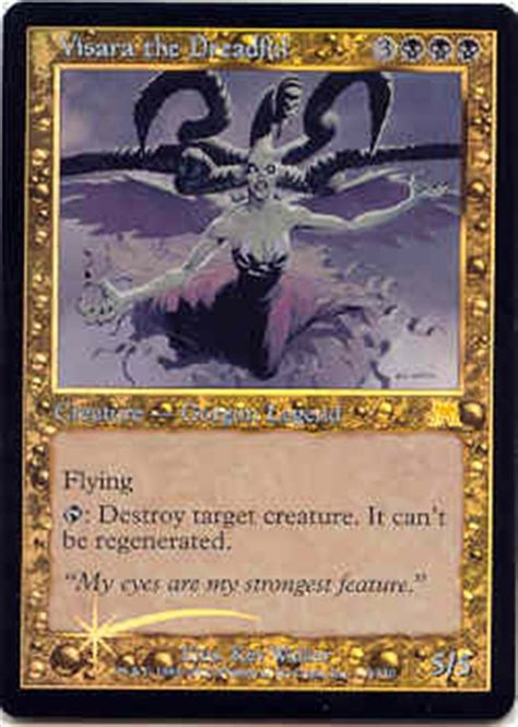 Posted by 9 days ago. Magic the Gathering Onslaught Single Visara, the Dreadful Foil   DA Card World