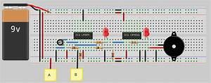 Water Tank Overflow Alarm Circuit Diagram