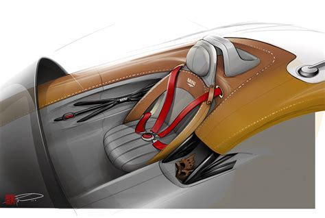 mini superleggera vision concept interior design sketch car body design