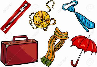 Objects Cartoon Accessories Illustration Clipart Different Household