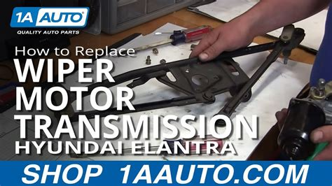 install replace windshield wiper motor  linkage