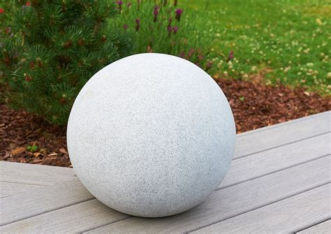 boule pierre deco jardin deco bambou exterieur nouvel