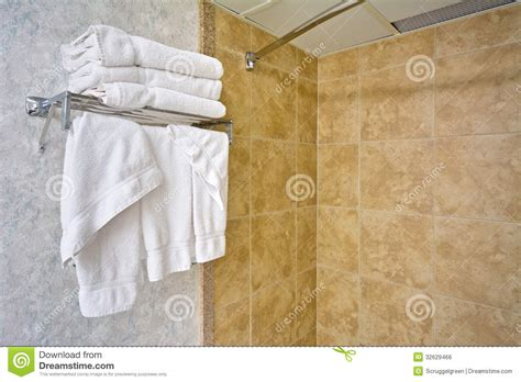 Towels Hanging In Bathroom Stock Towels Royalty Free Stock Image Image 32629466