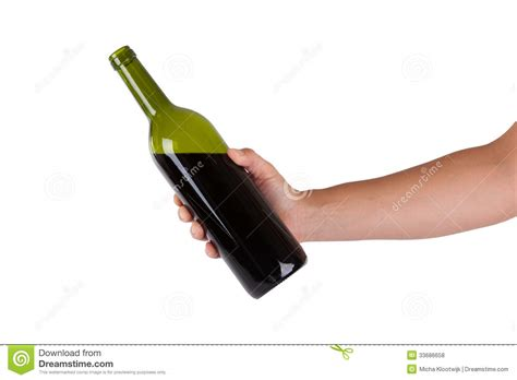 une bouteille de