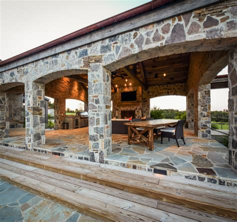 ranch rustic patio houston by thompson custom homes