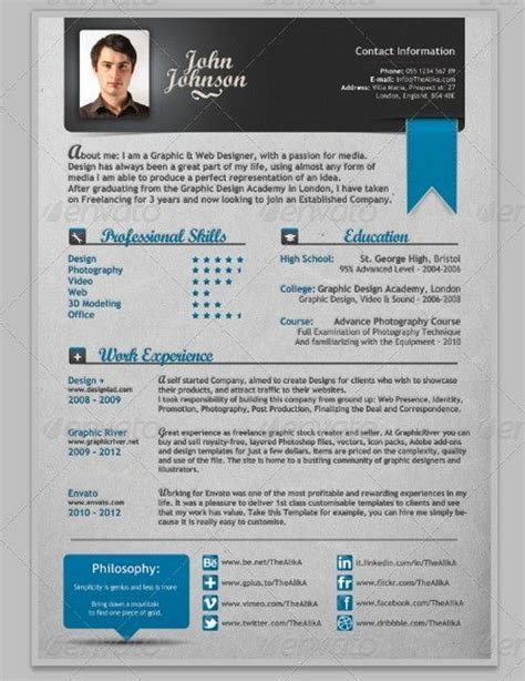 Modern Cv by 25 Modern And Professional Resume Template Exles