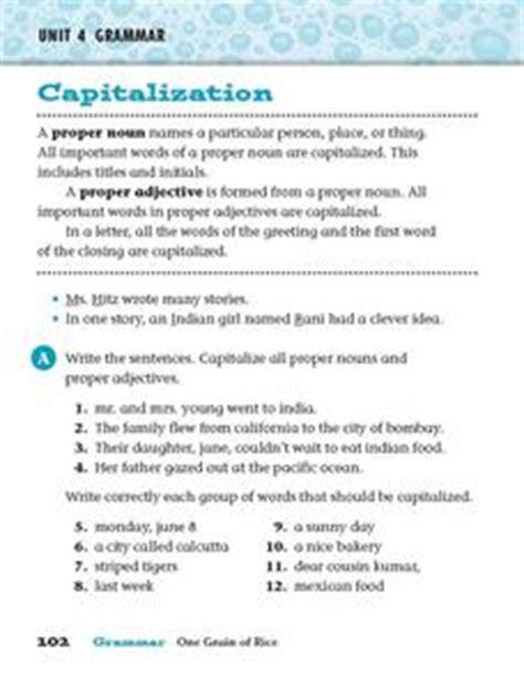 capitalization proper nouns and proper adjectives