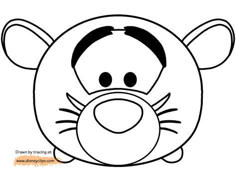 tsum tsum coloring pages  printable coloring pages