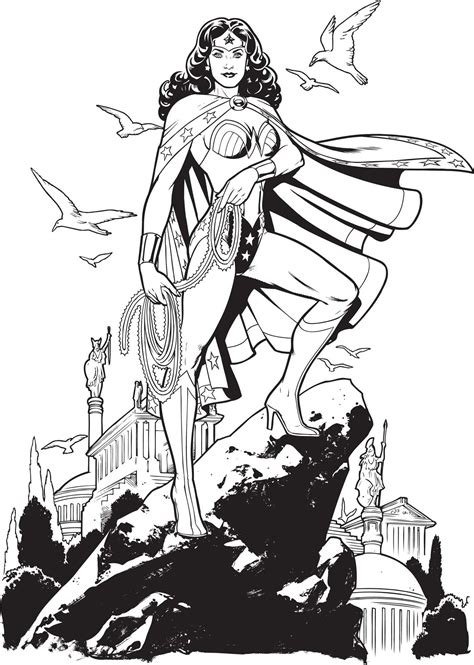 dc comics  woman coloring book book  insight editions official publisher page