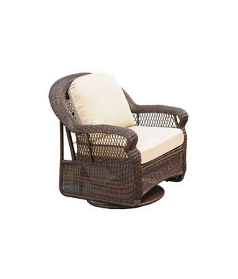antiqua outdoor resin wicker patio swivel rocker