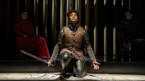 saint joan review condola rashad stars  broadway