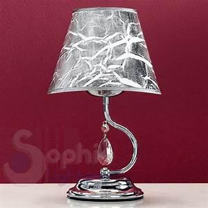 Abat Jour Design : abat jour lumetto design moderno acciaio cromato paralume ~ Melissatoandfro.com Idées de Décoration