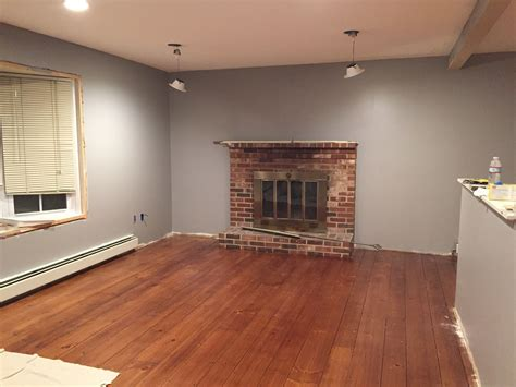 my living room behr ultra flannel gray in eggshell we