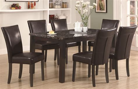 Espresso Dining Room Set by 1738 Espresso Marble Dining Room Set From Monarch