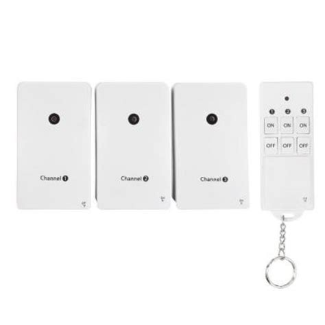 wireless light switch home depot globe electric wireless indoor remote toggle switch