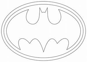 Batman Logo Outline Cake Ideas and Designs
