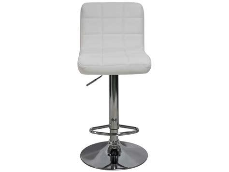 tabouret de bar florence coloris blanc vente de chaise de cuisine conforama