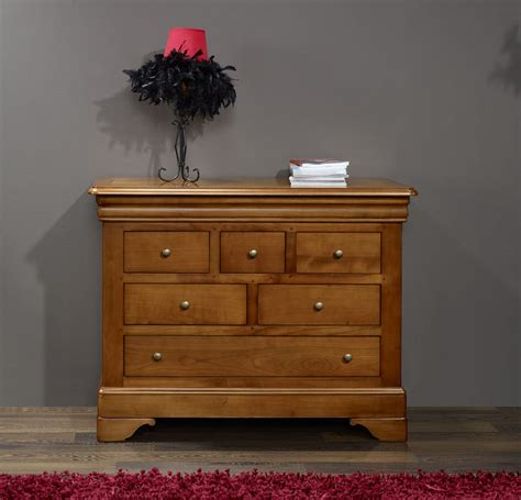 chambre louis philippe merisier massif commode 6 tiroirs adèle en merisier massif de style