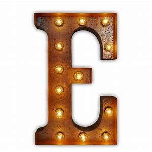letter light e vintage letter lights uk alphabet light With letter e light