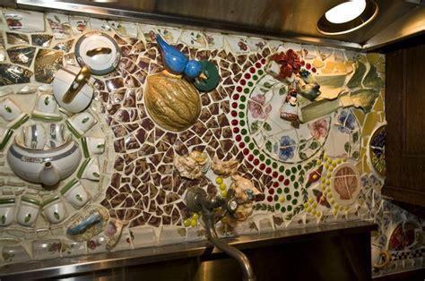 Broken dishes backsplash   Kitchens   Pinterest   Mosaics