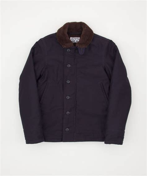 n1 deck jacket real mccoys the real mccoy s n 1 deck jacket navy clothes