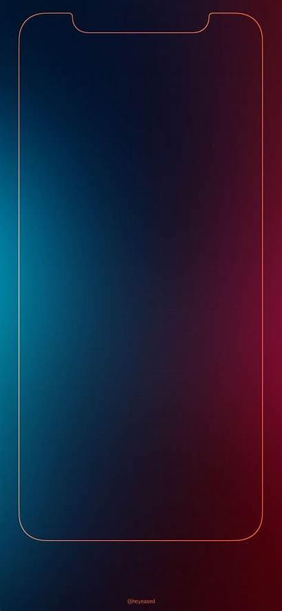 Iphone Border Wallpapers Xs Rainbow